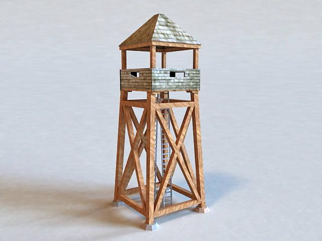 Military Guard Tower 3d model