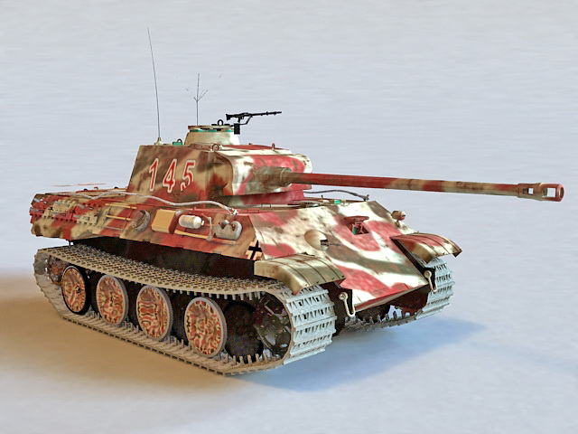 German Panzer V Tank 3d model