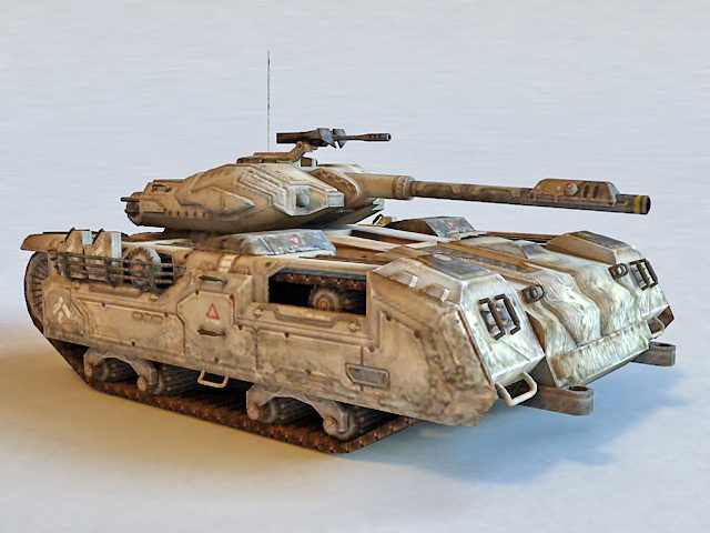 Sci-Fi Armored Tank Vehicle 3d model