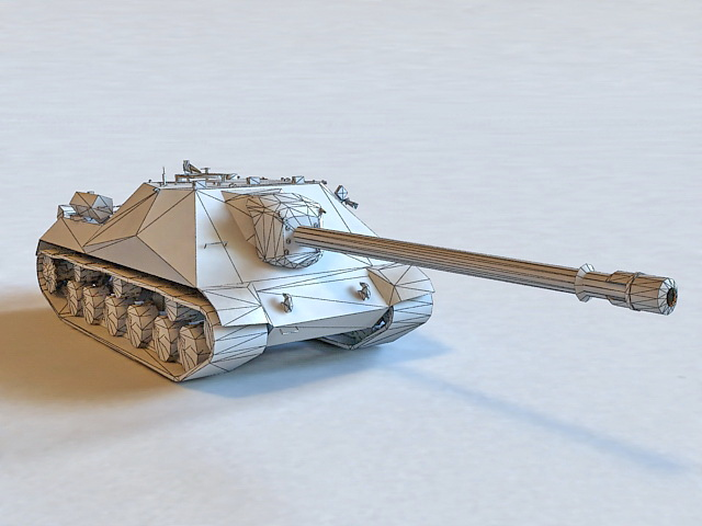 Object 704 Russian Tank 3d model