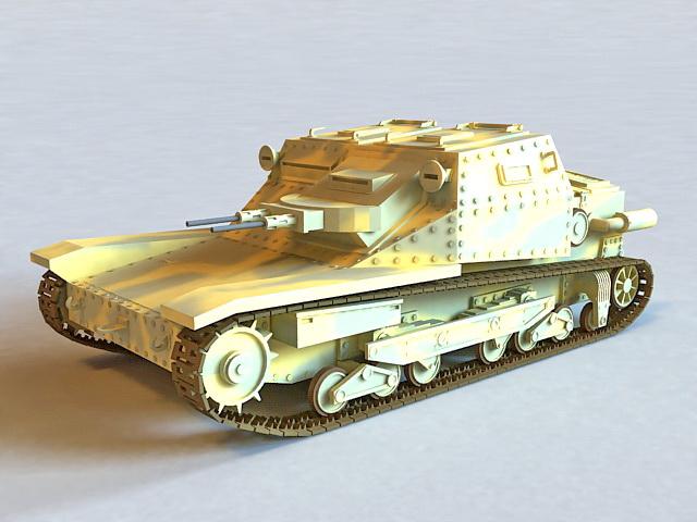L3 35 Italian Tankette 3d model