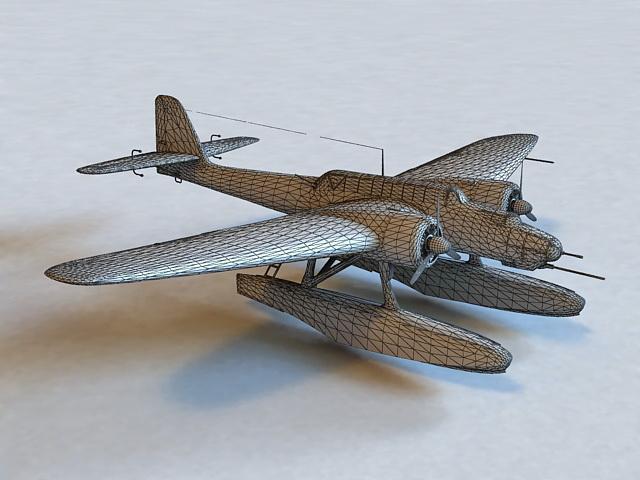 He 115 C 1 Torpedo Bomber Seaplane 3d Model 3ds Max Files