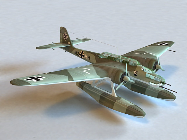 He 115 C-1 Torpedo Bomber Seaplane 3d model