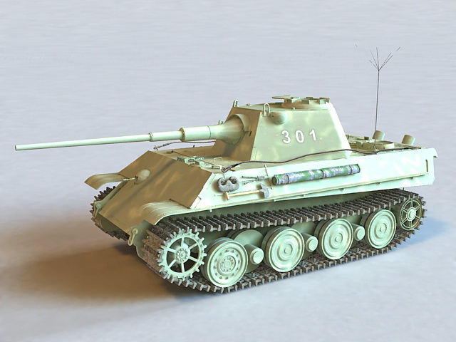 Panzerkampfwagen V Panther Tank 3d model