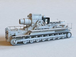 Karl-Gerat 041 Siege Artillery 3d model