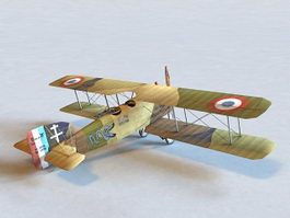 Breguet 14 French Bomber Aircraft 3d model