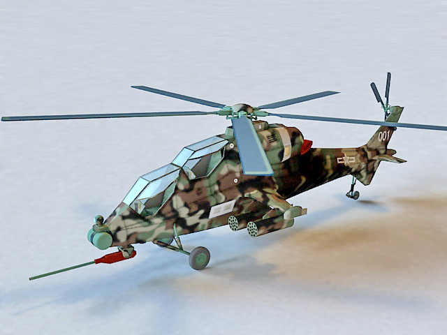 Caic Z 10 Attack Helicopter 3d Model 3ds Max Files Free