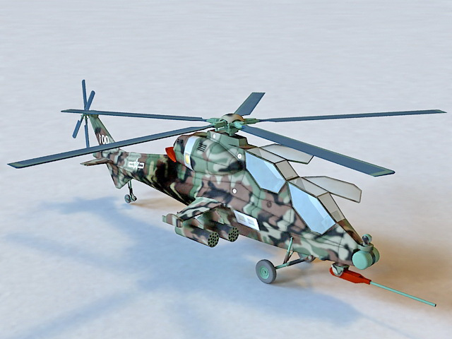 CAIC Z-10 Attack Helicopter 3d model