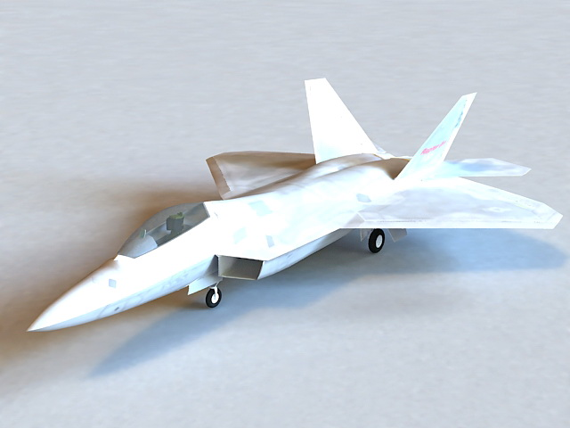 F-22 Raptor Fighter Plane 3d model