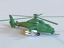 Chinese Z-19 Attack Helicopter 3d model