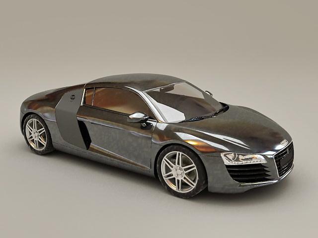 Audi R8 V8 Spyder 3d model