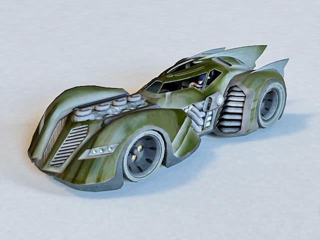 Batmobile Batman Vehicle 3d model