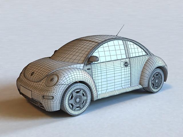 Classic VW Beetle 3d model