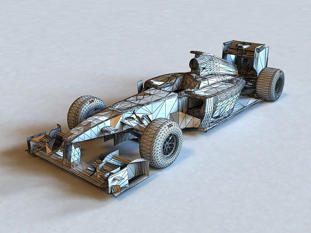 Lotus F1 Car 3d model Lightwave,Object files free download