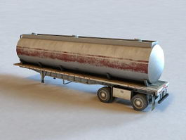 Semi-Trailer Tank Trailer 3d model