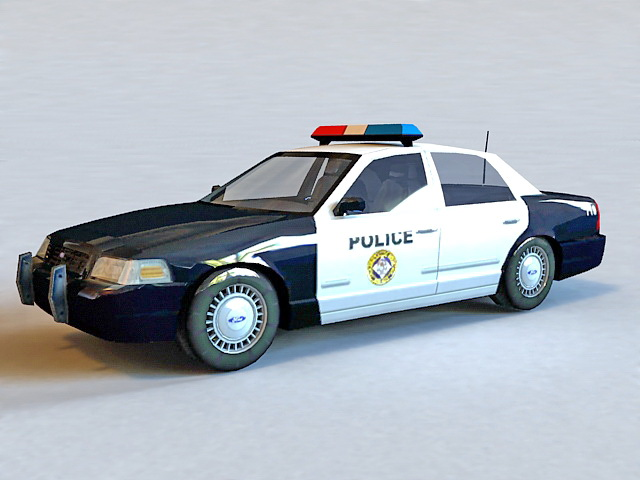 Ford Crown Victoria Police Car 3d Model 3ds Max Object Files Free
