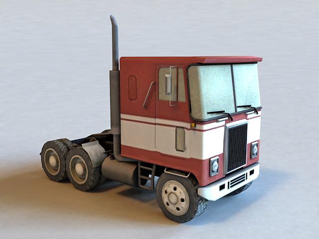 GMC Semi Tractor Truck 3d model
