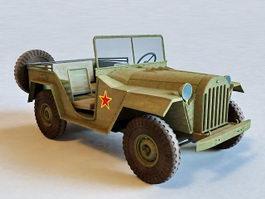 GAZ-67 Jeep 3d model