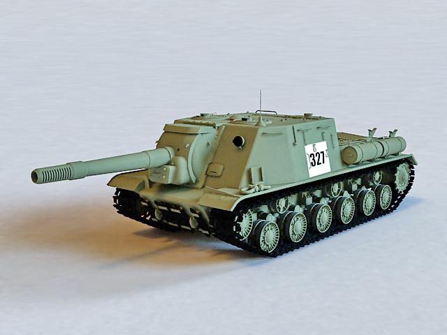 ISU-152 Tank Destroyer 3d model