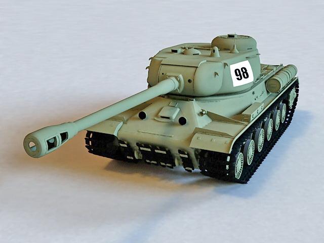 IS-2 Stalin Heavy Tank 3d model