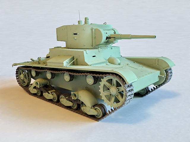 Soviet T26 Tank 3d model