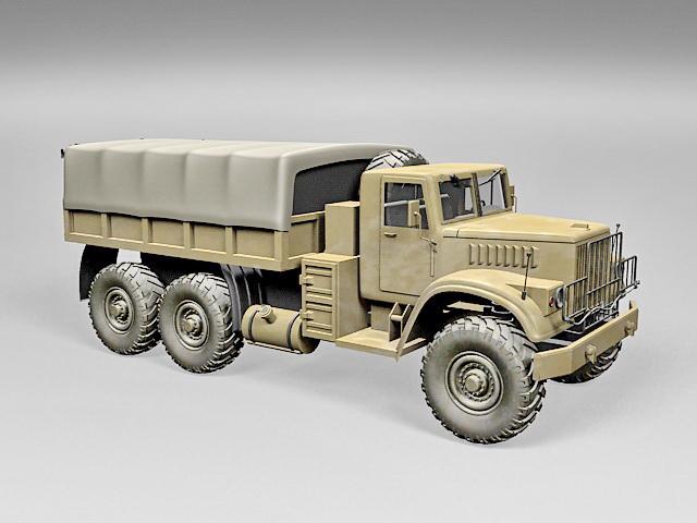 Military Kraz Truck 3d model