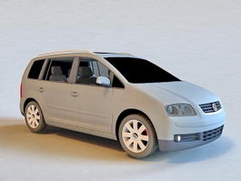 Volkswagen Touran MPV 3d model