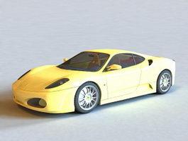 Ferrari F430 Yellow 3d model