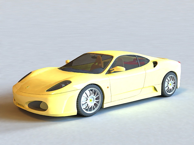 Ferrari F430 Yellow 3d model
