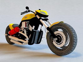 Custom Harley-Davidson Motorcycle 3d model