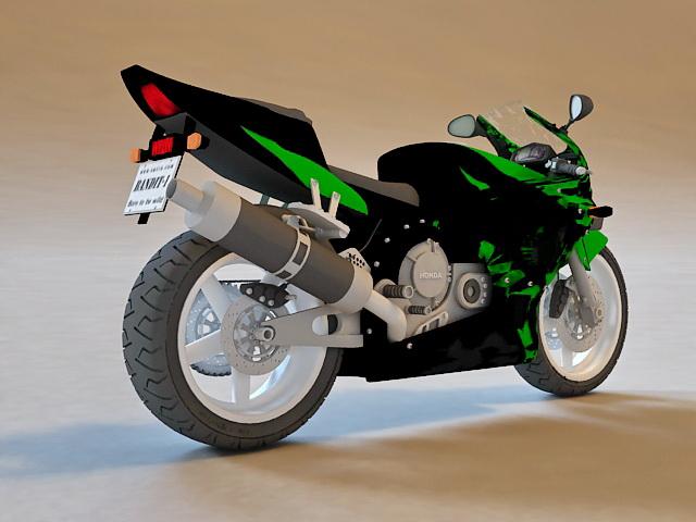Honda CBR Sport Bike 3d model 3D Studio,3ds Max,Object files free