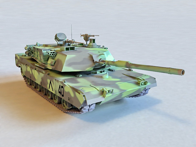 Camouflage M1A2 Abrams 3d model