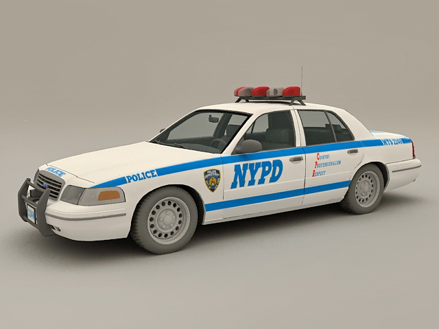 Nypd Police Car 3d Model 3ds Max Files Free Download