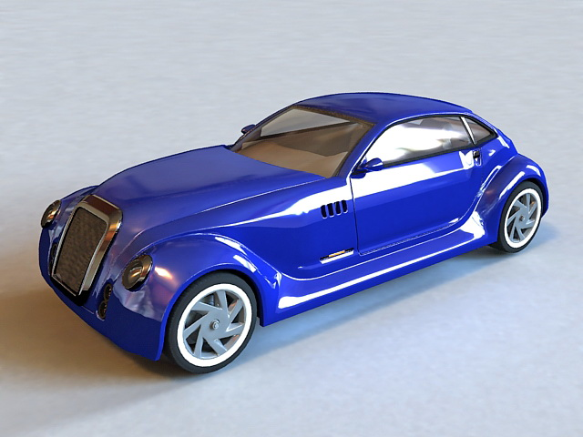 Old Antique Classic Car 3d model