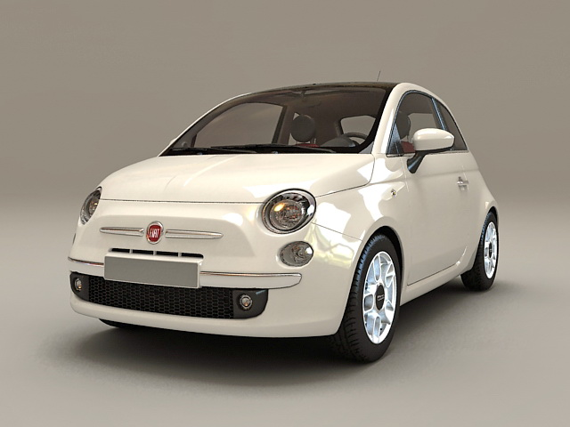 Fiat 500 R 3d model
