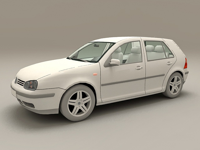 VW Golf Compact Car 3d model