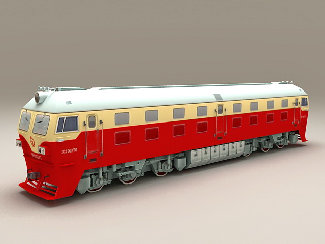 China Railway DF4D Locomotive 3d model