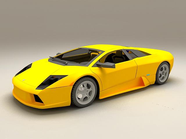 Lamborghini Murcielago Roadster Yellow 3d model