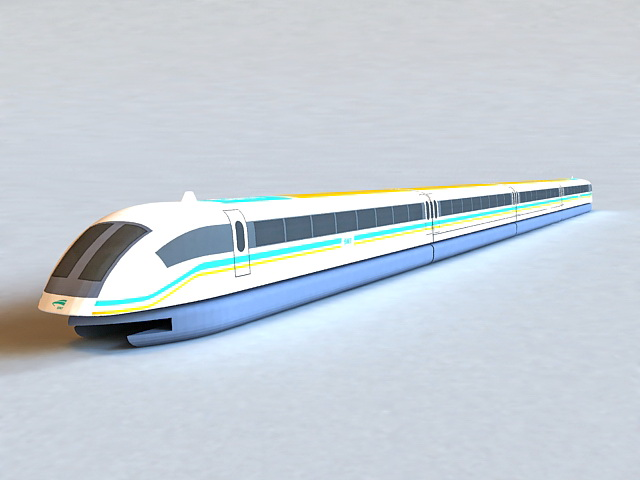 Maglev Train 3d model