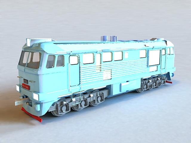 Diesel Railway Locomotive 3d model
