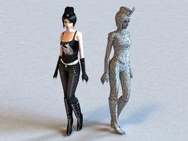 Pretty Scene Girl 3d model