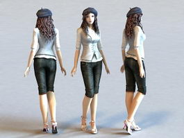 Fashion Style Girl 3d model