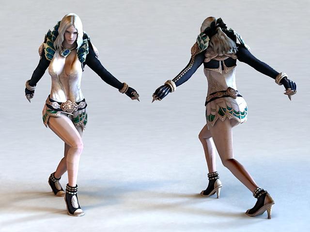 Female Sorceress 3d model