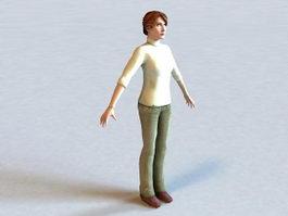Judith Mossman Half-Life Character 3d model