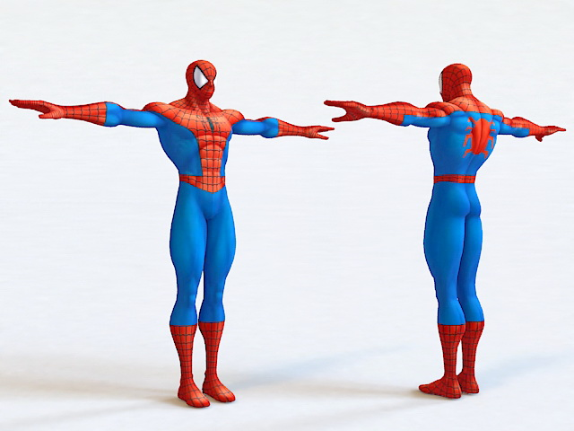 Spider Man 3d Model 3ds Max Object Files Free Download