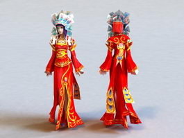Ancient China Bride 3d model