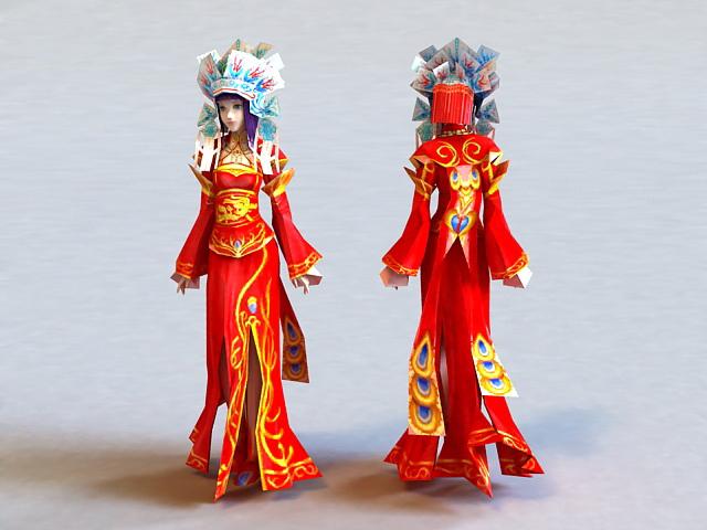 Ancient China Bride 3d model