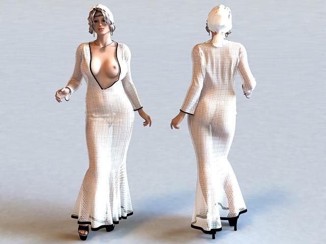 Buxom Lady 3d model