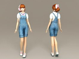 Cute Sweet Girl 3d model