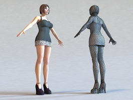 Young Model Girl 3d model